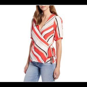 Halogen tie-front blouse xs